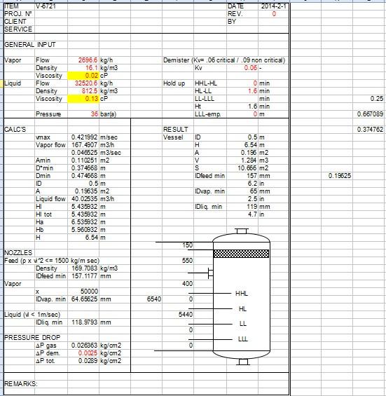蒸发器用丝网除沫器的计算